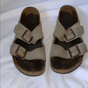 Birkenstock's Arizona softbed unisex suede leather